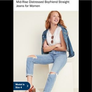 Boyfriend  destructed jeans